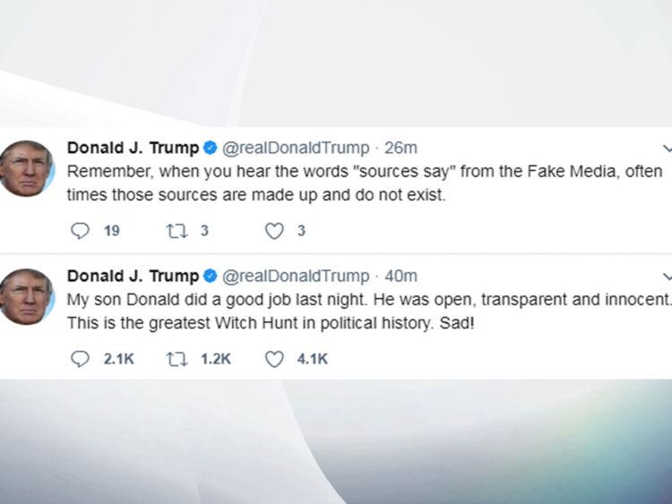 Tweets Donald Trump