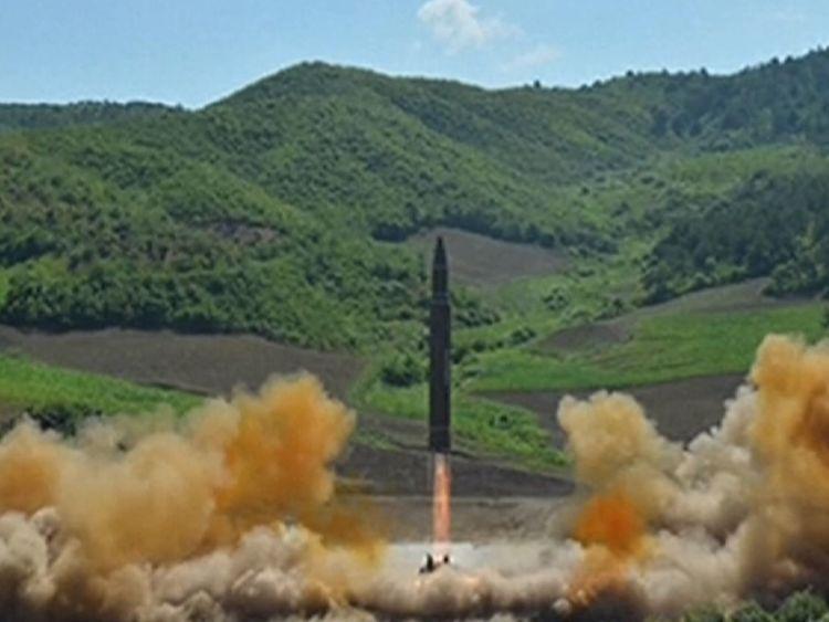 test de missiles de la Corée du Nord