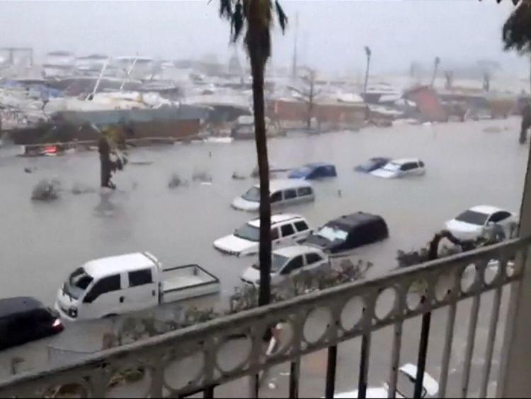 Dommages causés par l'ouragan Irma dans les Antilles françaises