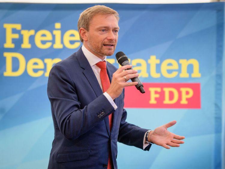 Christian Lindner, chef du parti libre démocratique FDP d'Allemagne