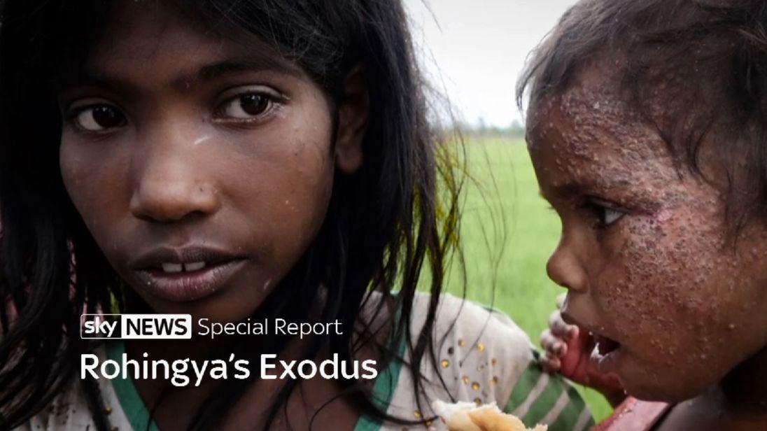 Rohingya enfants réfugiés (titre spécial).