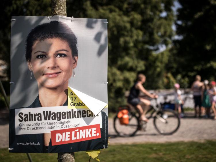 Affiche de la campagne Die Linke avant les élections allemandes
