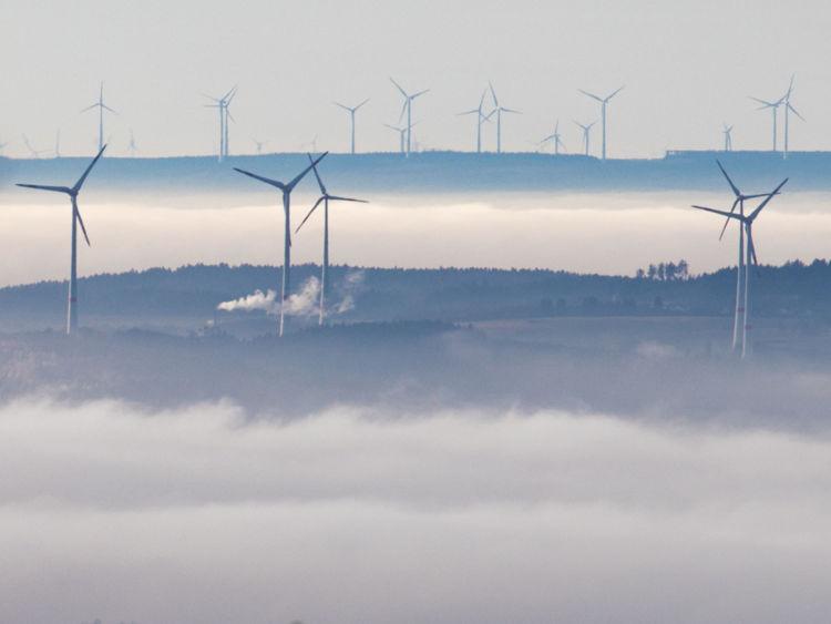 Un parc éolien en Allemagne