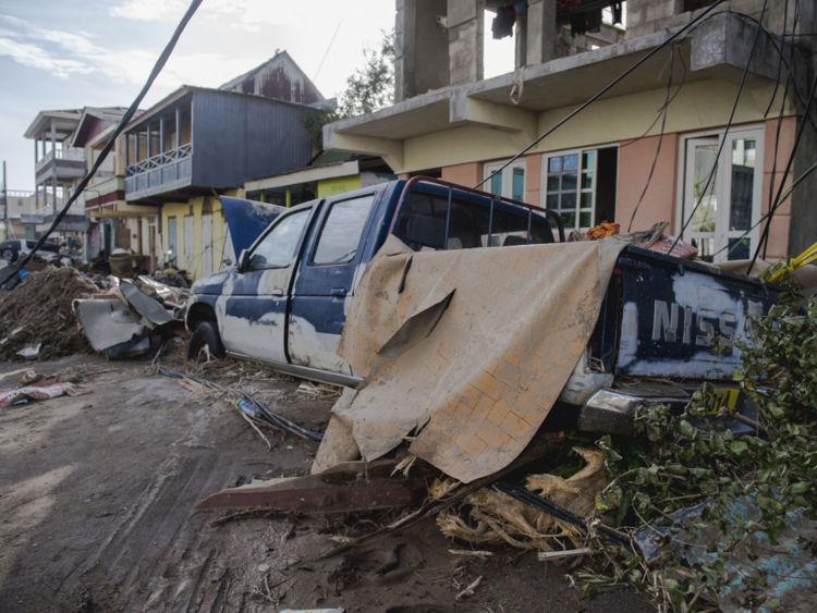 Roseau, capitale de l'île des Caraïbes Dominique