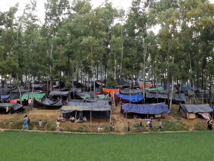 Un camp de réfugiés massif a été mis en place qui s'améliore