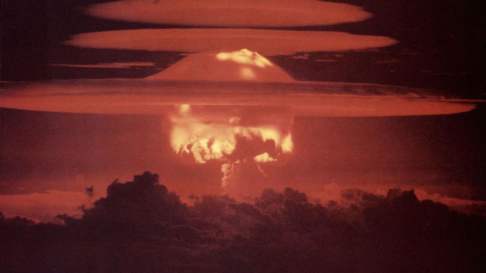Test de la bombe à l'hydrogène