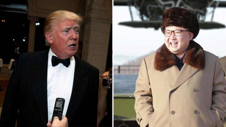Le président élu américain Donald Trump et le dirigeant nord-coréen Kim Jong-un