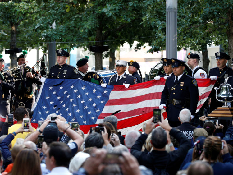 Cérémonie du 11 septembre à New York