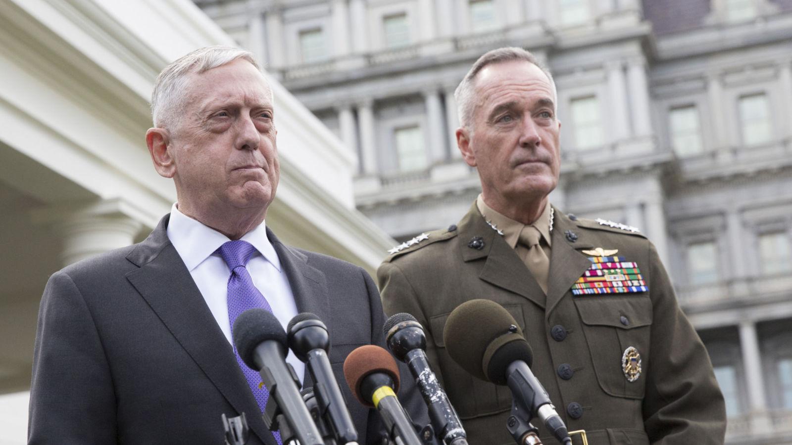 Le secrétaire de la Défense James Mattis a fait la dernière déclaration américaine sur la Corée du Nord