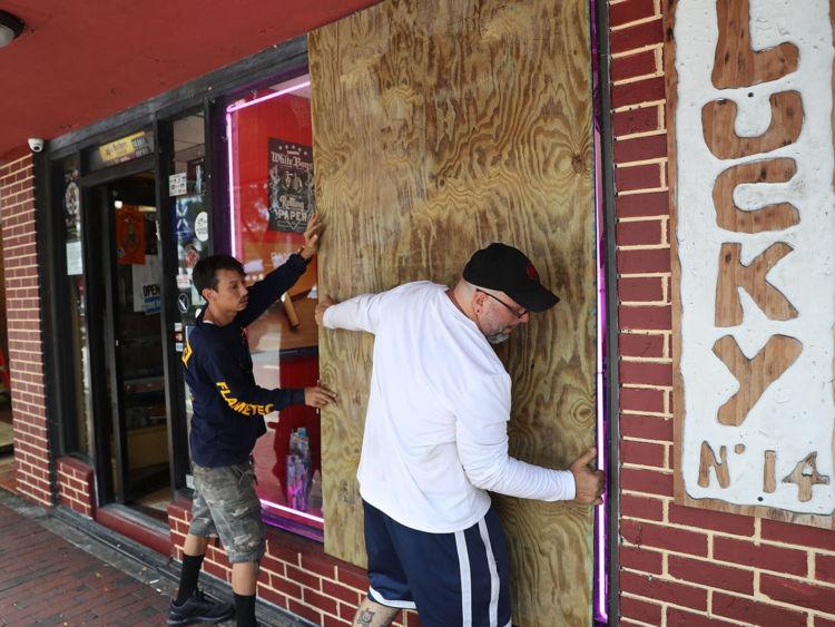 Préparations pour l'ouragan Irma