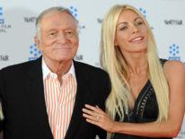 Hefner a épousé sa troisième épouse Crystal Harris, 60 ans son junior, en décembre 2012