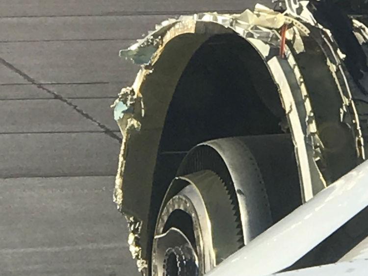 Un avion d'Air France obligé d'atterrir au Canada avec des dommages au moteur. Image approuvée par Foreign Desk. Crédit: @rickengebretsen