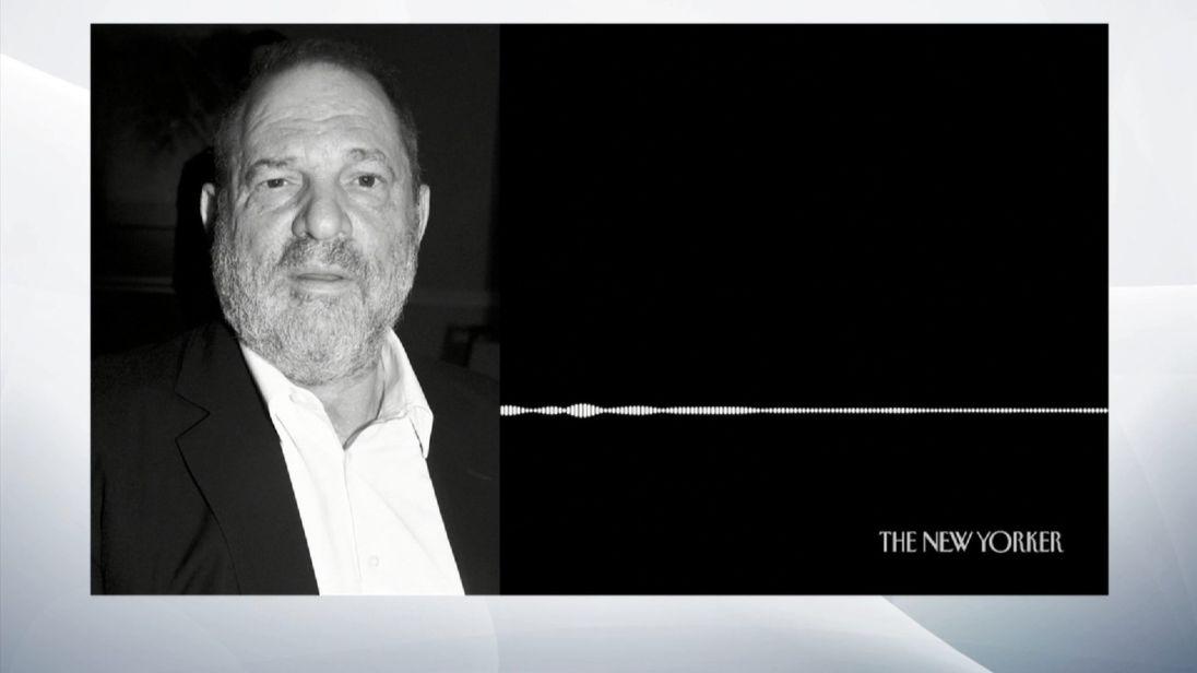 Le New Yorker a publié une copie d'un enregistrement audio qui aurait été fait à l'entrée de la chambre d'hôtel de Harvey Weinstein