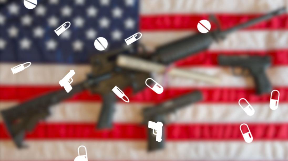 L'accrochage des armes de l'Amérique