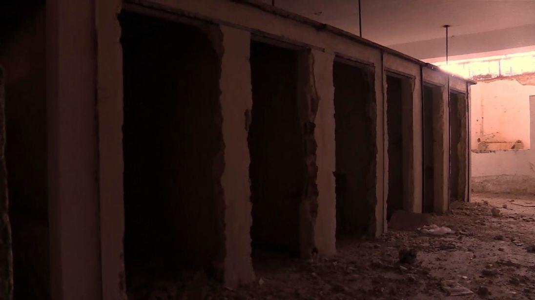 Quelques-unes des cellules de la prison