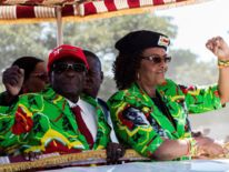 Robert Mugabe, président du Zimbabwe, avec sa femme Grace