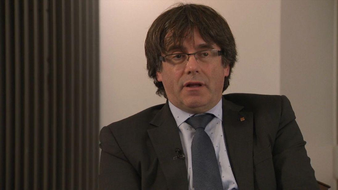 Carles Puigdemont, le président catalan controversé, parle à Mark Stone de Sky