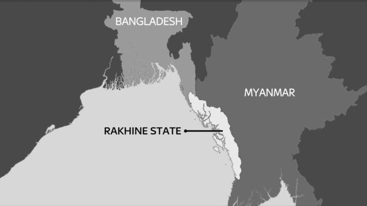 L'Etat de Rakhine se trouve sur la côte occidentale du Myanmar, à la frontière du golfe du Bengale