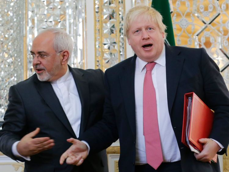 Boris Johnson et Mohammed Javad Zarif s'est réuni à Téhéran