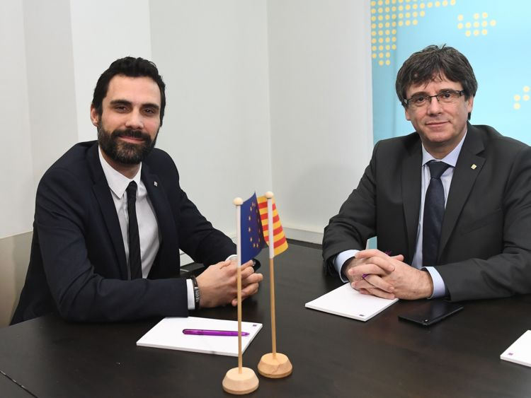 Catalun speaker and puigdemont