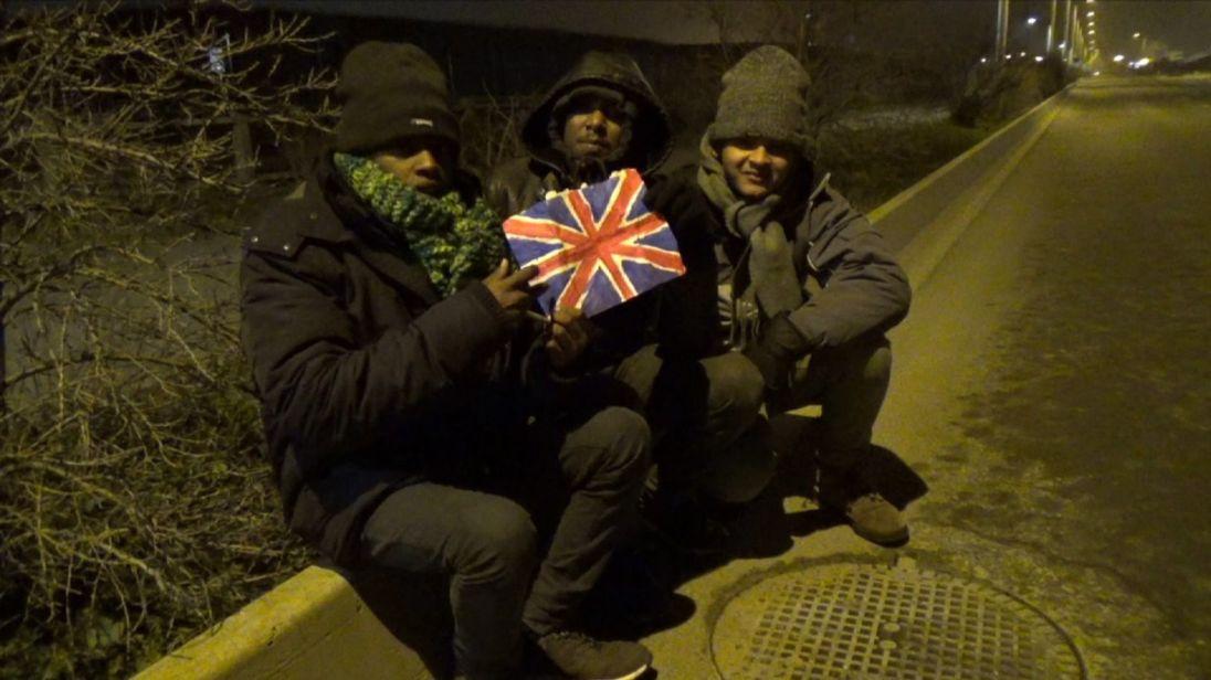 Enfants réfugiés à Calais