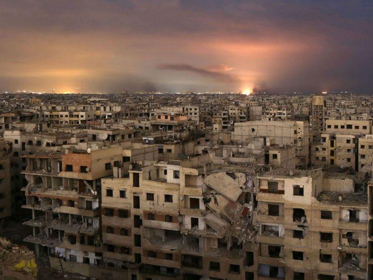 Bombardement de Ghouta depuis une semaine