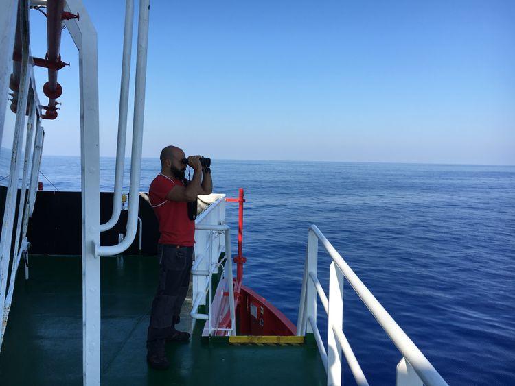 Ahmad Imam Sur le navire de sauvetage de Save the Children en Méditerranée