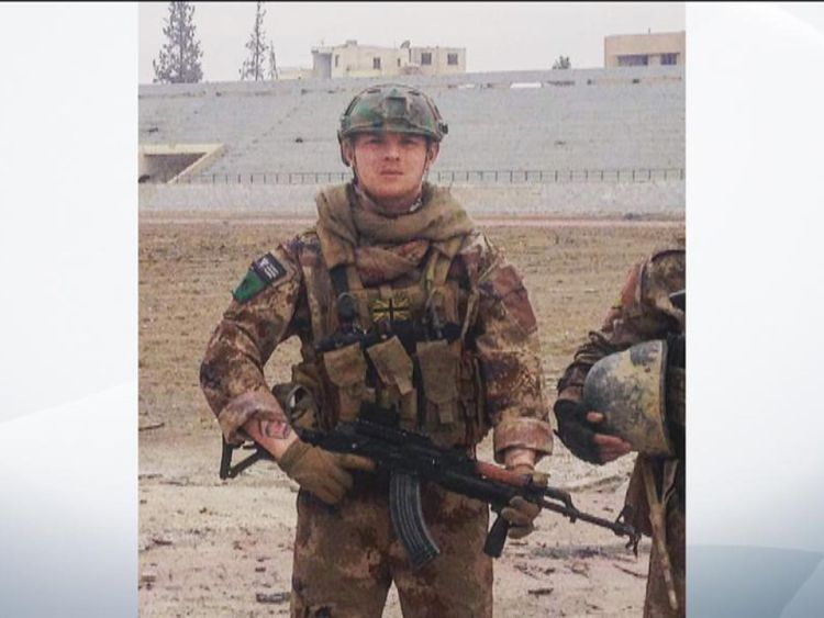 L'ancien soldat britannique Daniel travaillait comme infirmier à Afrin