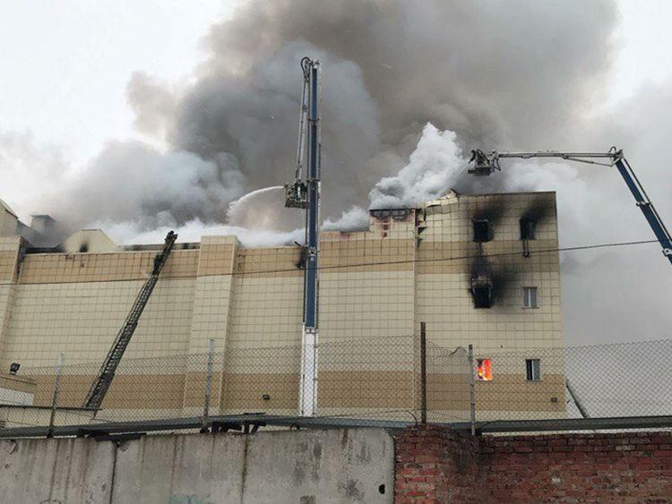 Plus de 30 personnes ont été tuées dans un incendie dans un centre commercial de Kemerovo [19659005] Image: </span><br />         <span class=