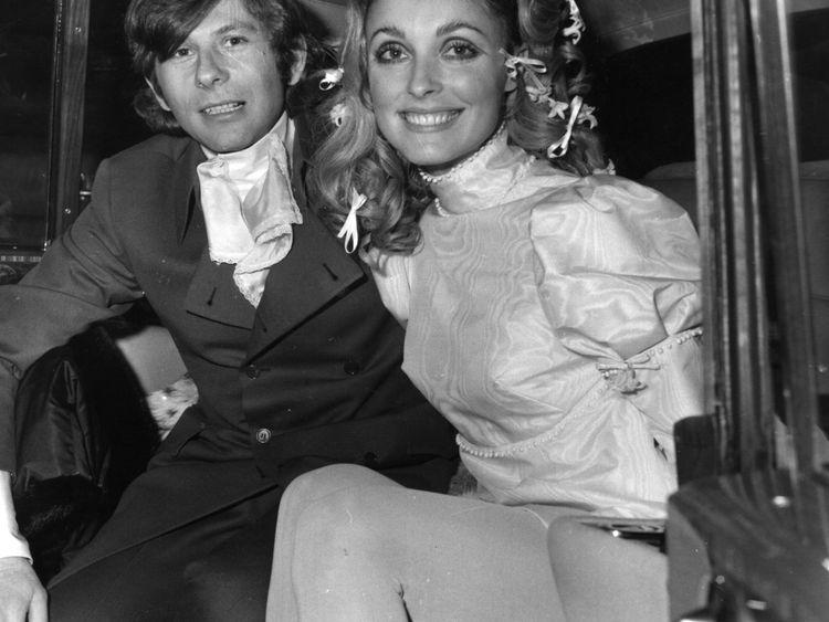 Sharon Tate avec le réalisateur Roman Polanski