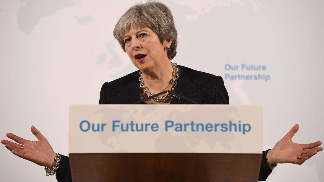 Theresa May a prononcé son discours à Mansion House dans la ville de Londres