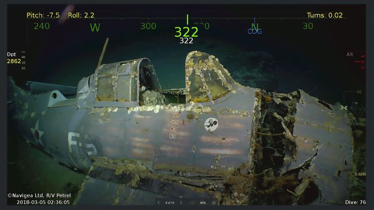 2018 courtoisie de Paul G. Allen montre l'épave de l'USS Lexington, un porte-avions américain qui a coulé pendant la Seconde Guerre mondiale, qui a été trouvé dans la mer de Corail. Pic: Douglas Curran