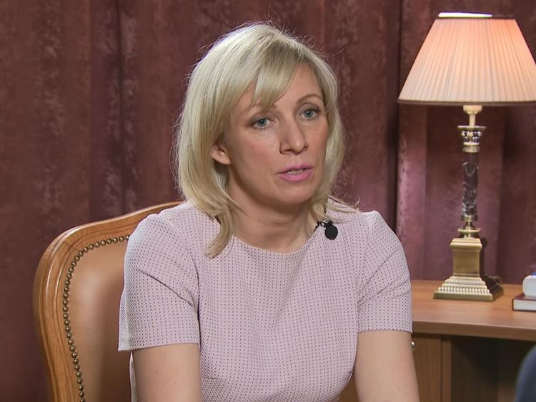 Maria Zakharova a parlé à Sky News à Moscou