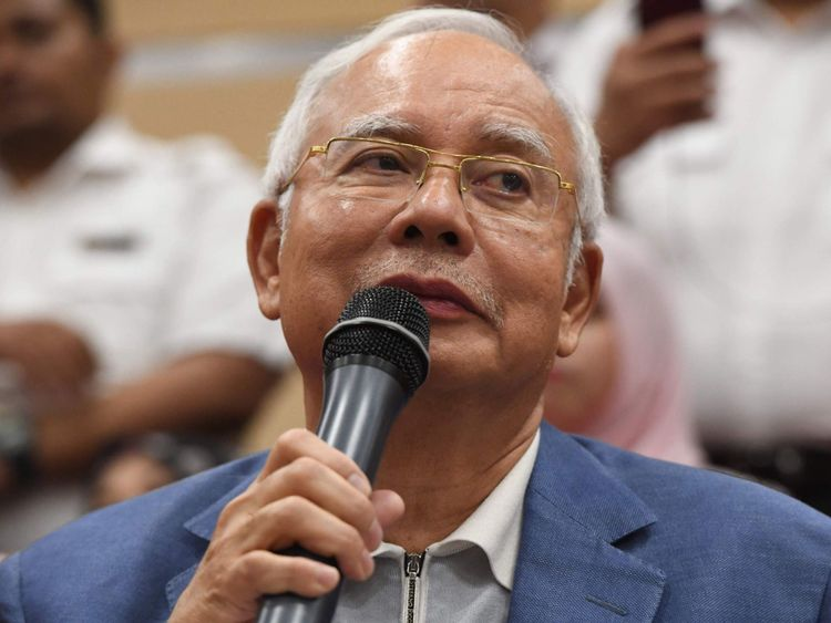 L'ancien premier ministre malaisien Najib Razak