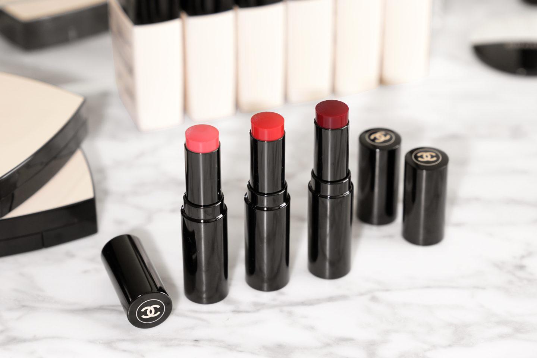 Baume pour les lèvres Chanel Les Beiges Lueur saine, moyenne et profonde