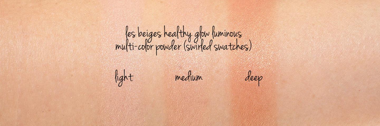 Poudre multicolore lumineuse Chanel Les Beiges Lumineuse Lumière, moyenne et profonde