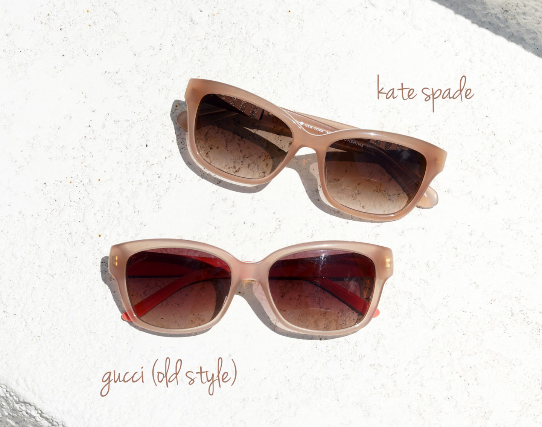 Rose Lunettes de soleil Gucci vs Kate Spade