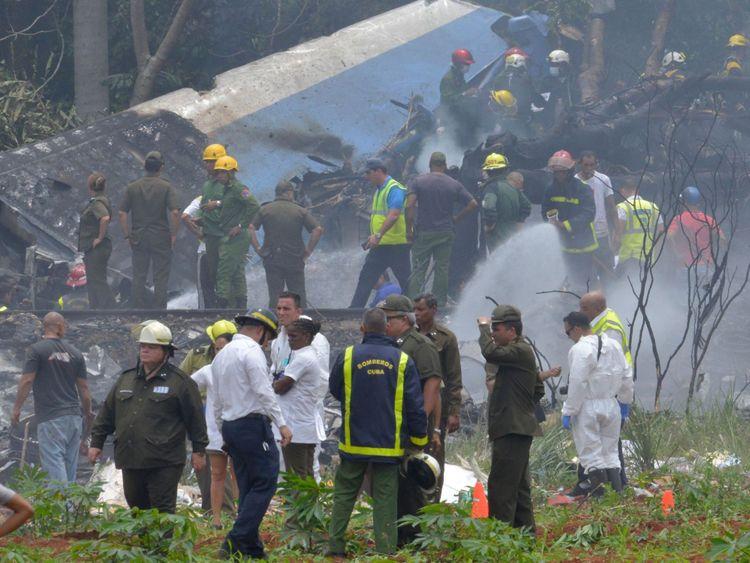 L'avion s'est écrasé après avoir décollé de l'aéroport Jose Marti de La Havane