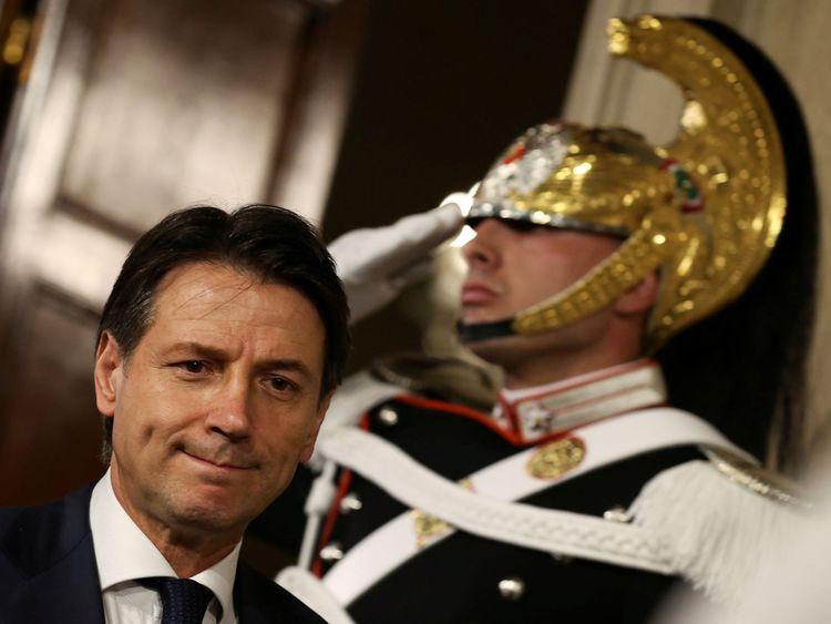 Premier ministre désigné de l'Italie Giuseppe Conte