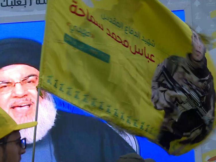 Le dirigeant du Hezbollah Hassan Nasrallah s'est adressé à des partisans de la vallée de la Bekaa via un lien vidéo