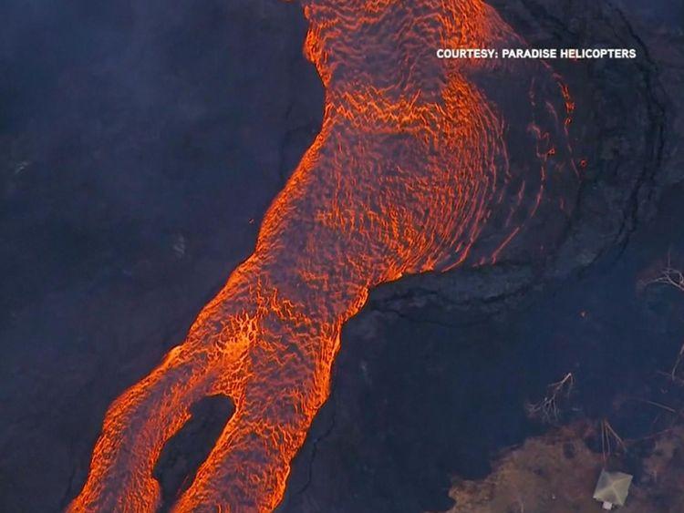 Hannah Thomas-Peter dit que la rivière de lave est devenue imparable
