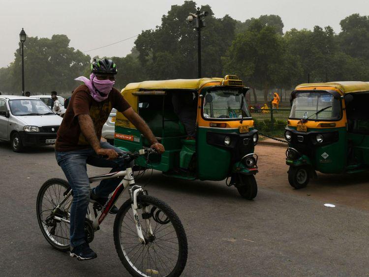 Tempête de poussière à New Delhi