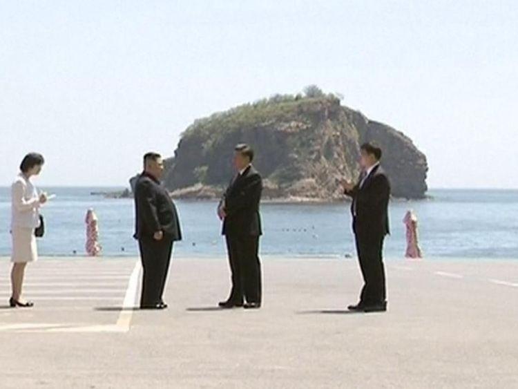 Kim Jong Un rencontre Xi Jinping