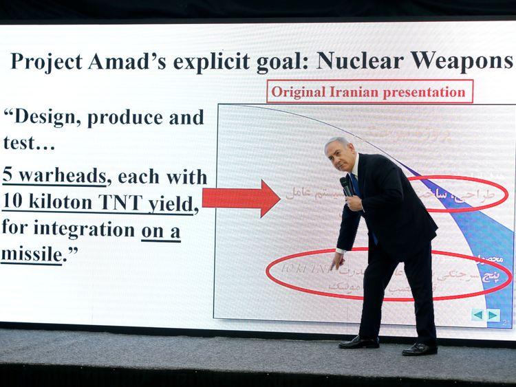 Le Premier ministre israélien Benjamin Netanyahu s'exprime lors d'une conférence de presse au ministère de la Défense.