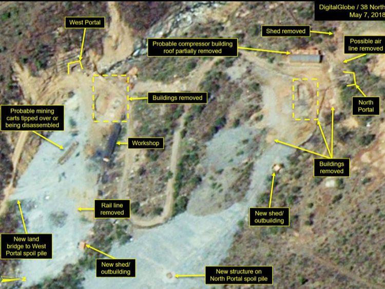 Site d'essais nucléaires Punggye-ri le 7 mai (1)