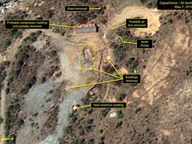 Site d'essais nucléaires de Punggye-ri au Nord Corée