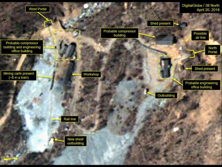 Site d'essais nucléaires de Punggye-ri en Corée du Nord [19659008] Image: </span><br />         <span class=