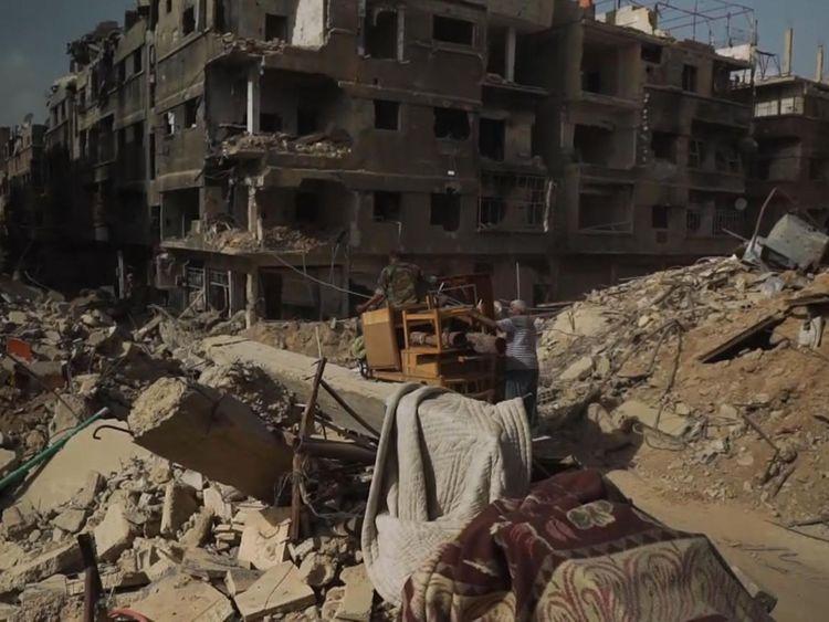 La ville a été laissée en ruines après le retrait de l'Etat islamique