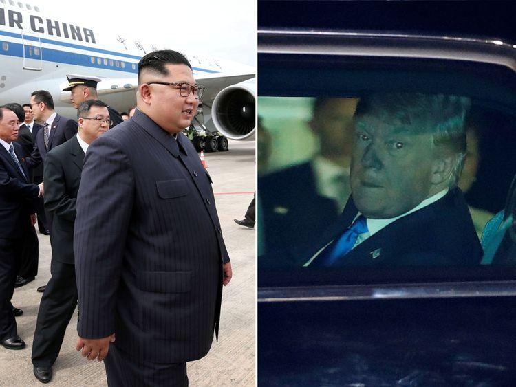 Kim Jong Un et Donald Trump sont arrivés à Singapour avant le sommet de mardi