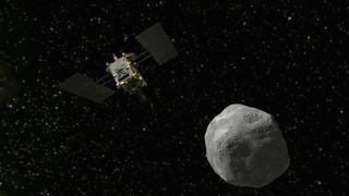 """Un explorateur spatial japonais est arrivé à un astéroïde mercredi après un voyage de trois ans et demi pour entreprendre une toute première expérience: souffler un cratère dans la surface rocheuse pour recueillir des échantillons et les ramener sur Terre. """"Srcset ="""" https: // e3. 365dm.com/18/06/320x180/skynews-space-asteroid_4346863.jpg?20180627105813 320w, https://e3.365dm.com/18/06/640x380/skynews-space-asteroid_4346863.jpg?20180627105813 640w, https: //e3.365dm.com/18/06/736x414/skynews-space-asteroid_4346863.jpg?20180627105813 736w, https://e3.365dm.com/18/06/992x558/skynews-space-asteroid_4346863.jpg?20180627105813 992w, https://e3.365dm.com/18/06/1096x616/skynews-space-asteroid_4346863.jpg?20180627105813 1096w, https://e3.365dm.com/18/06/1600x900/skynews-space-asteroid_4346863 .jpg? 20180627105813 1600w, https://e3.365dm.com/18/06/1920x1080/skynews-space-asteroid_4346863.jpg?20180627105813 1920w, https://e3.365dm.com/18/06/2048x1152/skynews -space-asteroid_4346863.jpg? 20180627105813 2048w """"tailles ="""" (min-largeur: 900px) 992px, 100vw"""